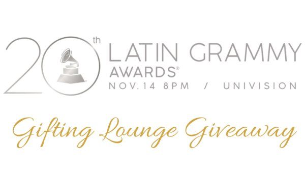 None - Official Latin GRAMMY Backstage Gift Lounge - Gift Bag Giveaway