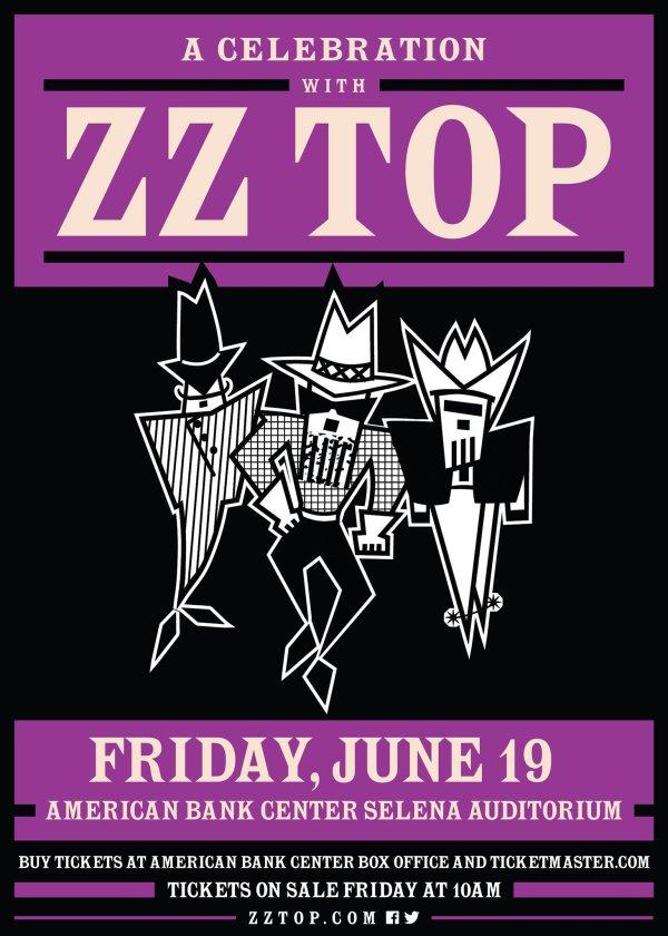 None - ZZ Top June 19th American Bank Center