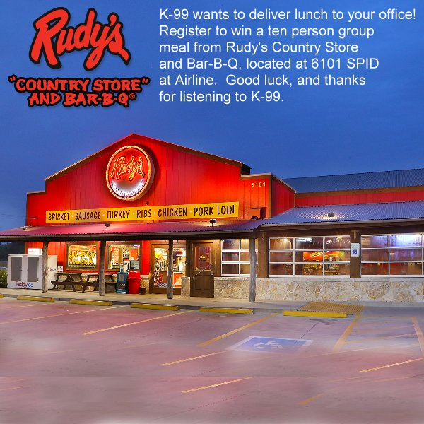 None - K-99 & Rudy's BBQ Office of the Week