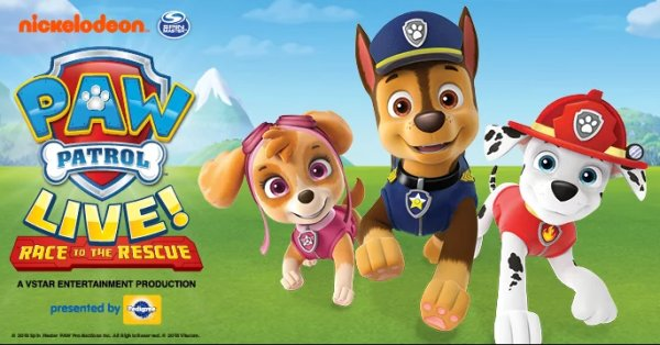 None - Win VIP passes to Paw Patrol Live Race to the Rescue!