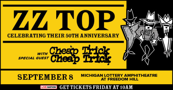 None -  Win tickets to see ZZ Top with Cheap Trick