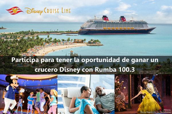 None - ¡Participa para tener la oportunidad de ganar unas vacaciones en un crucero Disney cortesía de Rumba 100.3!