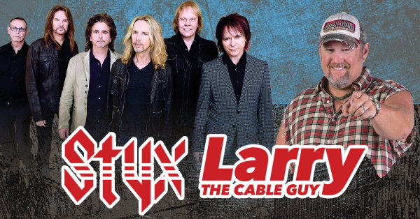 None - Win STYX and Larry The Cable Guy Tickets!