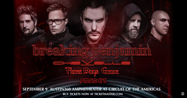 None - Enter To Win Tickets To See Breaking Benjamin At Austin360 Amphitheater!
