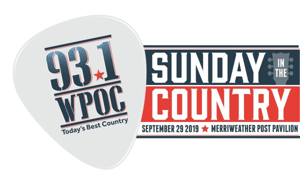 None - Win 93.1 WPOC's Sunday In The Country Tickets!