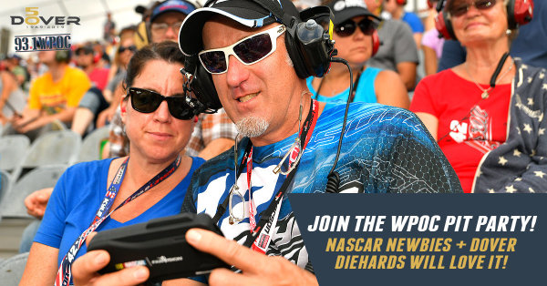 None - Win 93.1 WPOC Pit Party Passes at Dover Raceway with Bob Delmont!