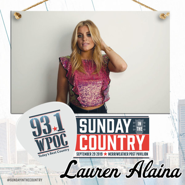 None - Win 93.1 WPOC's Sunday In The Country Eat & Greet Passes!