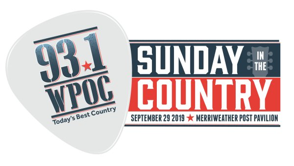 None - Win A 2019 93.1 WPOC's Sunday In The Country Signed Event Poster!