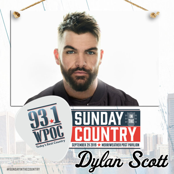 None - Listen to Win 93.1 WPOC's Sunday In The Country Tickets, Dylan Scott, Meet & Greets, and a SITC Swag Bag!