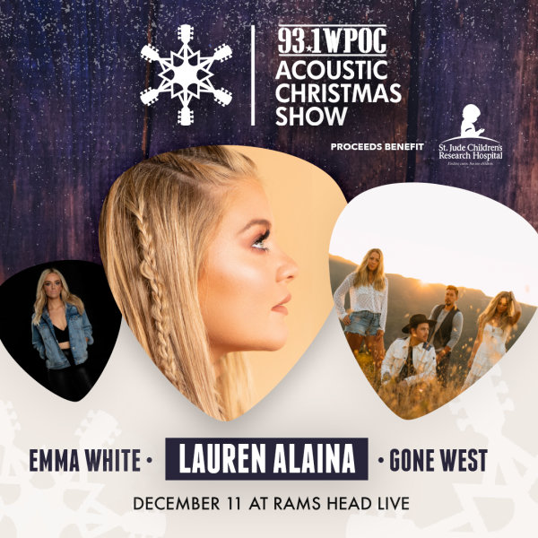 None - Win Tickets to WPOC's Acoustic Christmas Show!