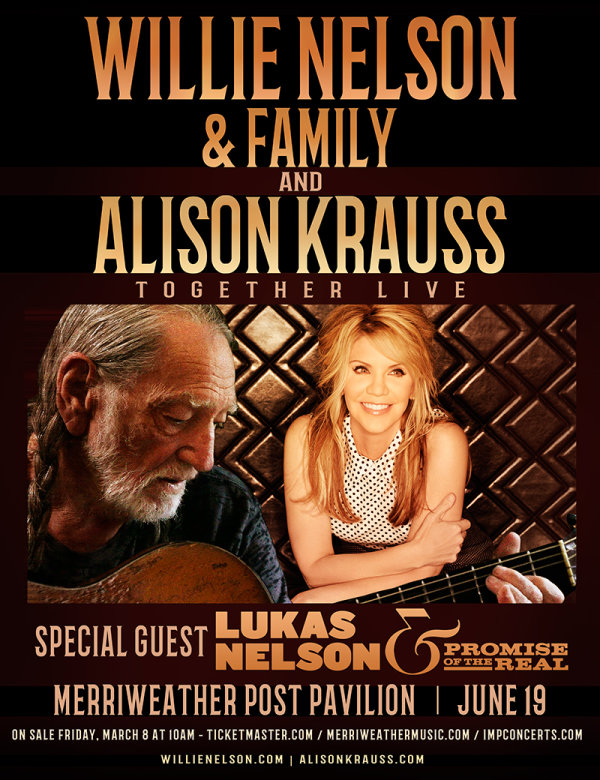 None - Win Tickets to See Willie Nelson & Alison Krauss!