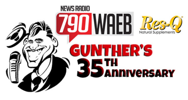 None - Win INVITES to Gunther's 35th Anniversary Party at the Hotel Bethlehem!