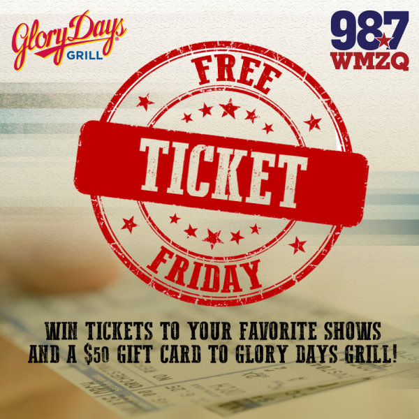 None - Free Ticket Friday's thanks to Glory Days Grill!