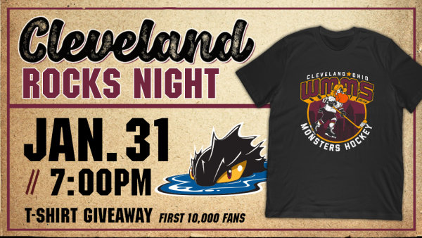 None - Win tickets to Cleveland Rocks Night with The Cleveland Monsters