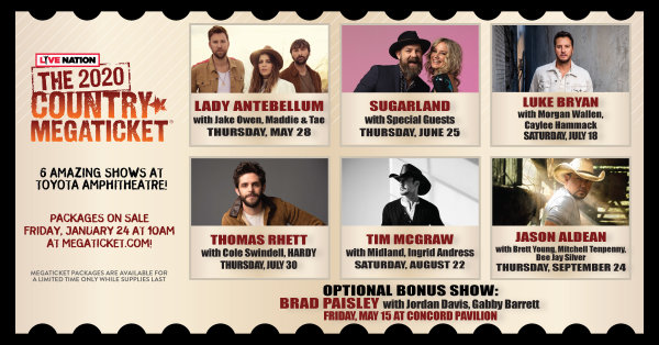 None - Win a pair of 2020 Country MegaTickets!
