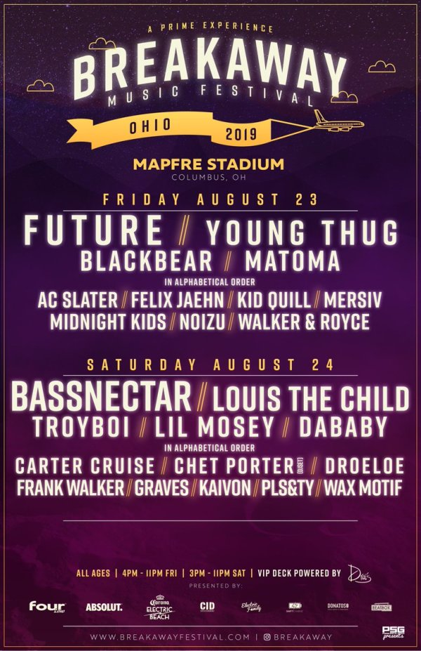 None - Win a pair of tickets to go to Breakaway Music Festival in Columbus!