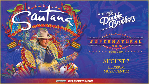 None - All this week, listen at 9:00a, 1:00p, 3:00p and 6:00p to win tickets to see Santana with The Doobie Brothers