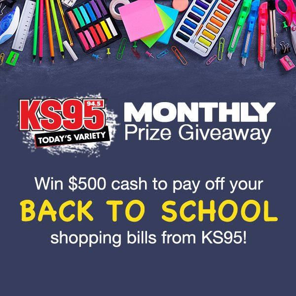 2019 KS95 August Monthly Giveaway - KS95 94 5 Today's