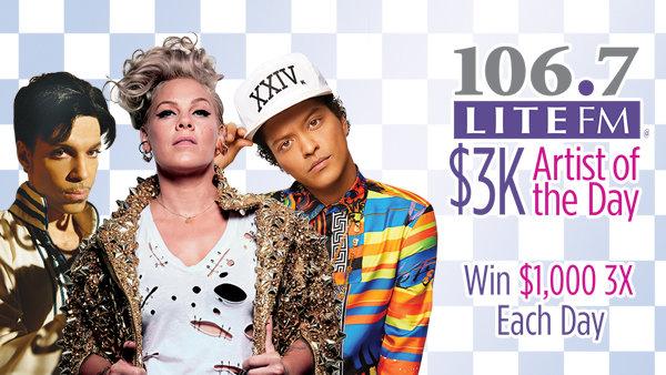 None -  Listen for Lite FM's $3K Artist of the Day!