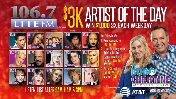 None -  Listen For The Lite Fm $3K Artist Of The Day And Win A Chance At $1000