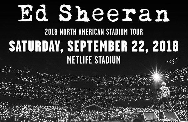 Win tickets to ed sheerans 2018 north american tour 1067 lite fm lite fm is giving you a chance to win a pair of tickets to see ed sheeran on his north american stadium tour at metlife stadium on september 22 2018 m4hsunfo
