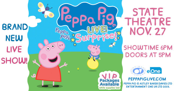 None - Win tickets to Peppa Pig Live!
