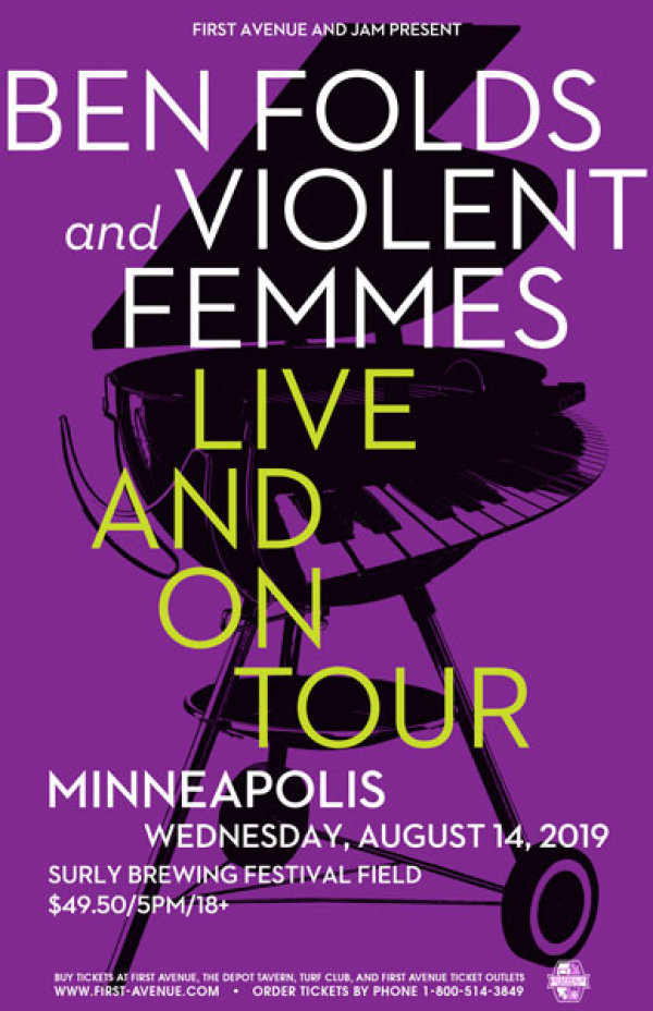 None - Win tickets to see BEN FOLDS AND VIOLENT FEMMES!