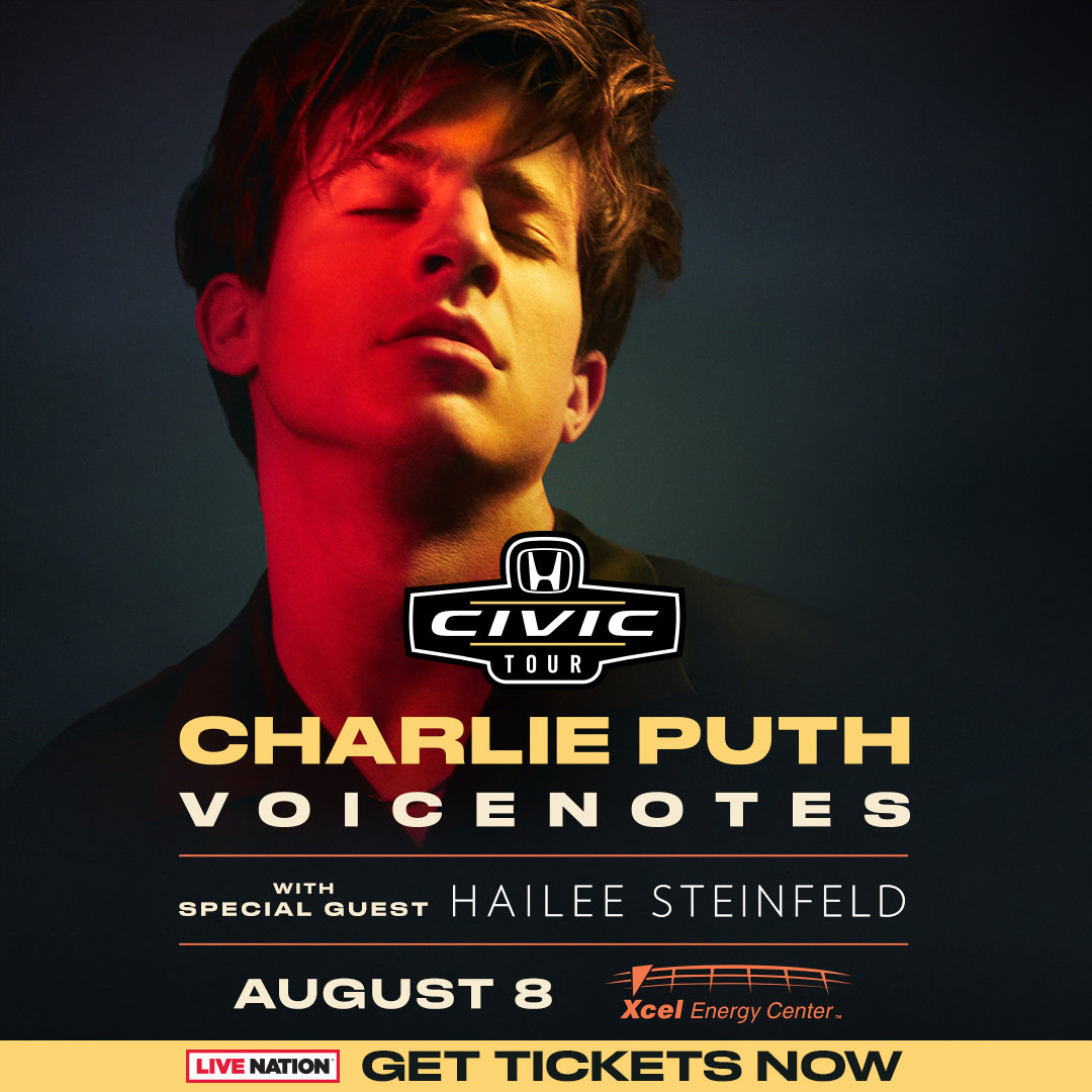 Head To Your Greater Twin Cities Honda Dealer Today For A Chance To Win  Tickets To See Charlie Puth At Xcel Energy Center On Wednesday, August 8th!