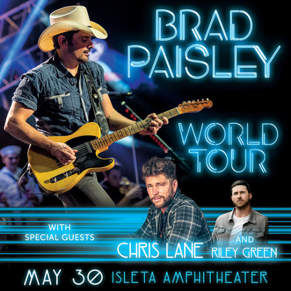 Win Tickets to see Brad Paisley in Albuquerque!