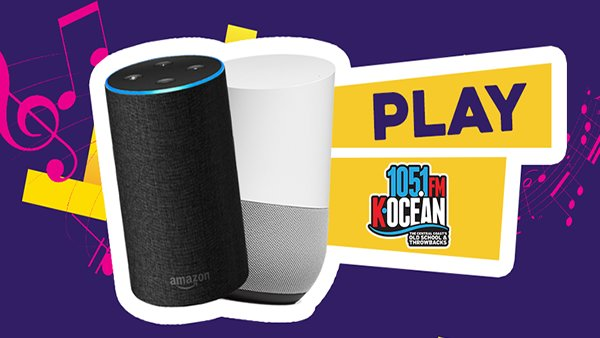 None -  Listen to K-OCEAN 105.1 on Amazon Alexa or Google Home!