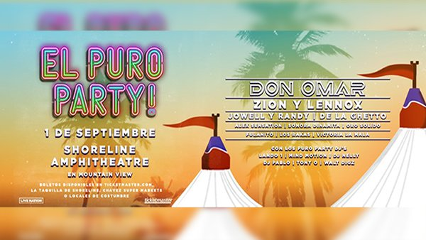None - El Puro Party at Shoreline Aphitheatre!