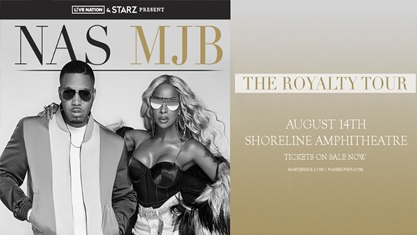 None - Mary J Blige and Nas Together at Shoreline Amphitheatre!