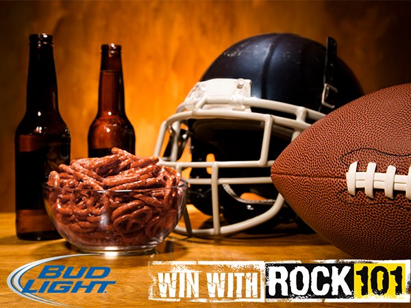 None - Win a Bud Light Pigskin Party with ROCK 101