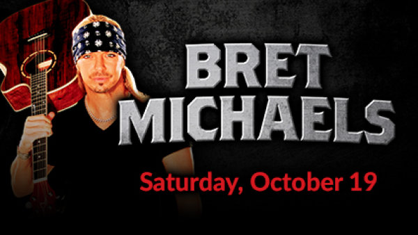 None - Win Tickets to Brett Michaels at  Prairie Knights Casino!
