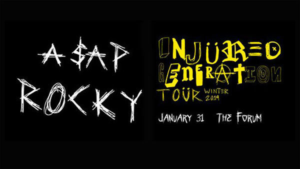 None - A$AP Rocky at The Forum (1/31/19) (Pair)
