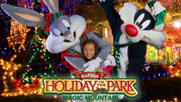 None -  Six Flags Magic Mountain: Holiday in the Park (4-pack + 2019 Season Passes)