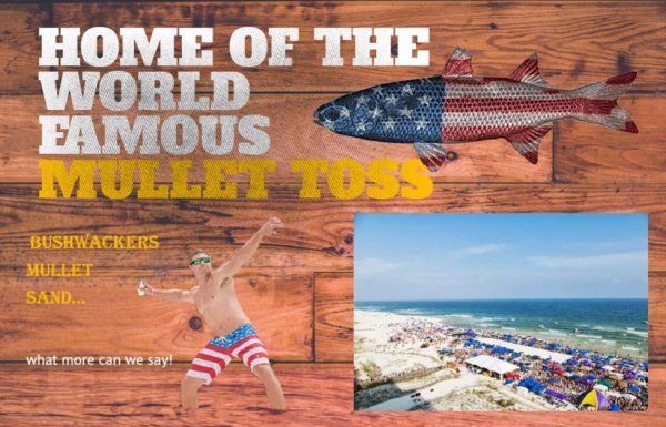 None - Register to win a Flora-Bama Mullet Toss 2019 prize pack!