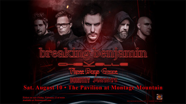 None - Win Breaking Benjamin Tickets with ZZO!