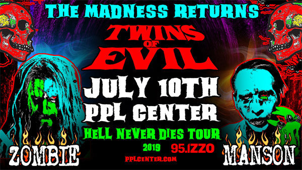 None - Win Tickets To See Rob Zombie/Marilyn Manson At PPL Center 7/10!