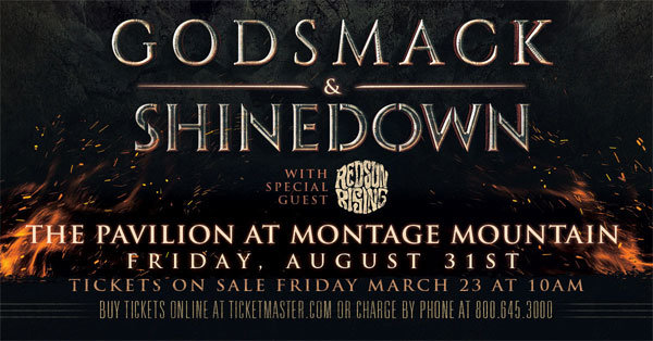 Register To Win Godsmack/Shinedown Tickets!
