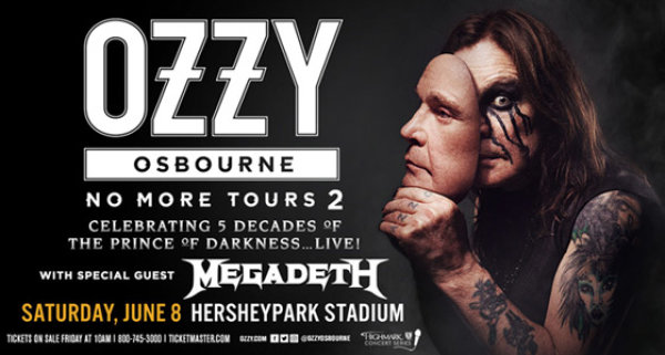 None - Win Tickets to See Ozzy in Hershey!