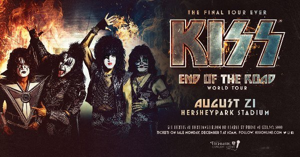 None - Win Tickets To See KISS at HersheyPark Stadium!