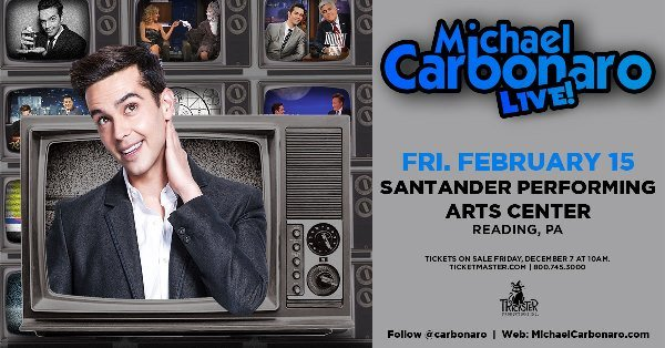 None - Win Tickets To Michael Carbonaro in Reading!