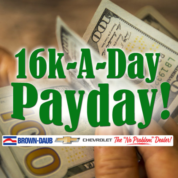 None - 16K-A-Day Payday! Listen to win $1000 Every Hour!