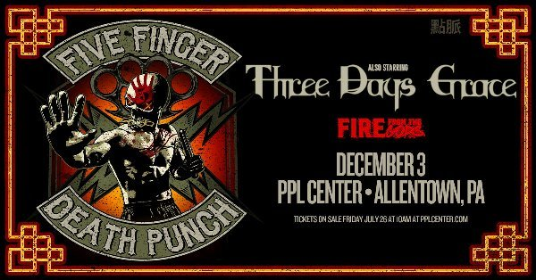 None - Win Tickets to Five Finger Death Punch at PPL Center!