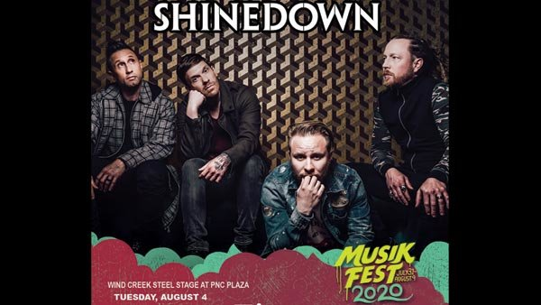 None - Register To Win Tickets to Shinedown at Musikfest 2020!
