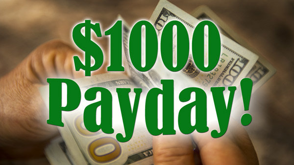 None - $1000 Payday-Listen to Win $1000 Every Hour!