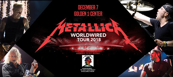 None - Win a pair of tickets to see Metallica!
