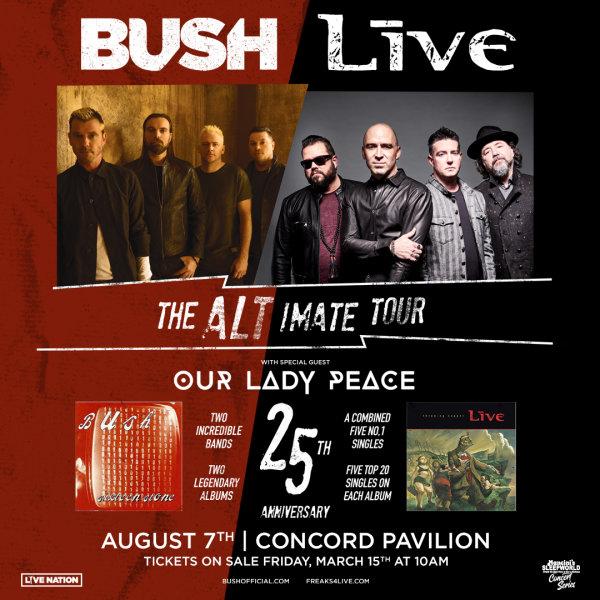 None - Win Bush / Live Tickets!