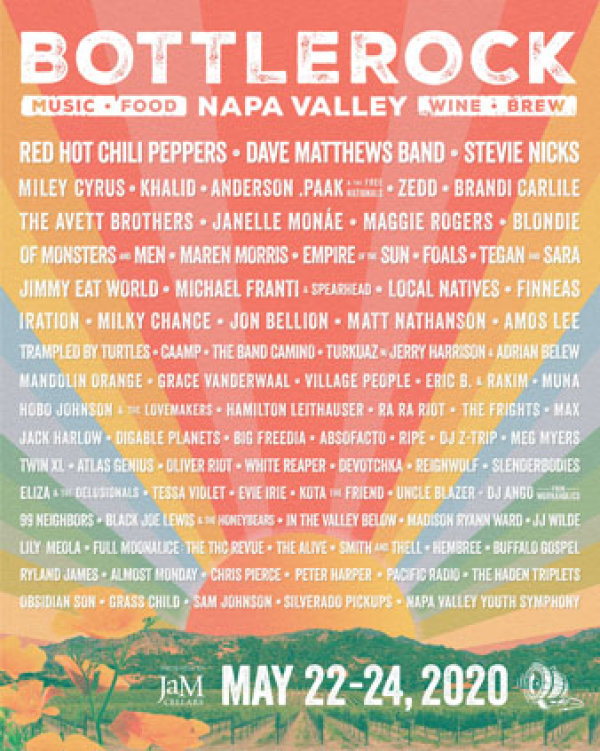 None - Win a Pair of Tickets to Bottle Rock Napa Valley!